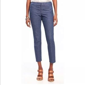 Old Navy Pixie Blue Chambray Ankle Pants Size 4